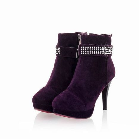 Wholesale Best Fashion Diamonds Korean AncientElegance Ankle Boots Shoes Black Purple Red [AFE-c-2]- US$15.31 - www.wholesaleshoes8.com | Wholesale Women Shoes | Scoop.it