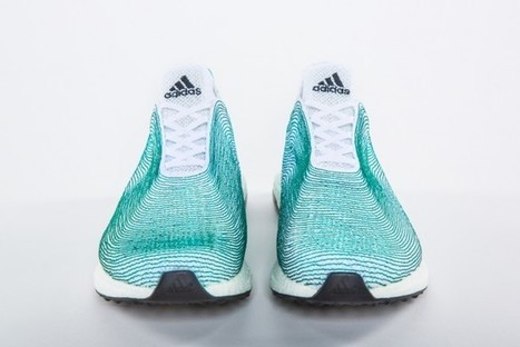 "Adidas Designs Sneakers Made Entirely from Ocean Waste (""advocacy sneakers from plastic send message"") 