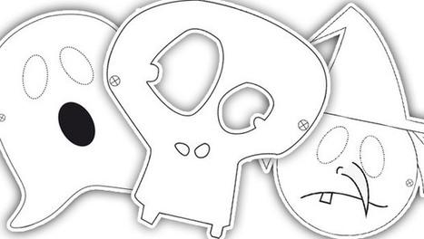 Télécharge, découpe et colorie ton masque d'Halloween ! | Handicap et société | Scoop.it