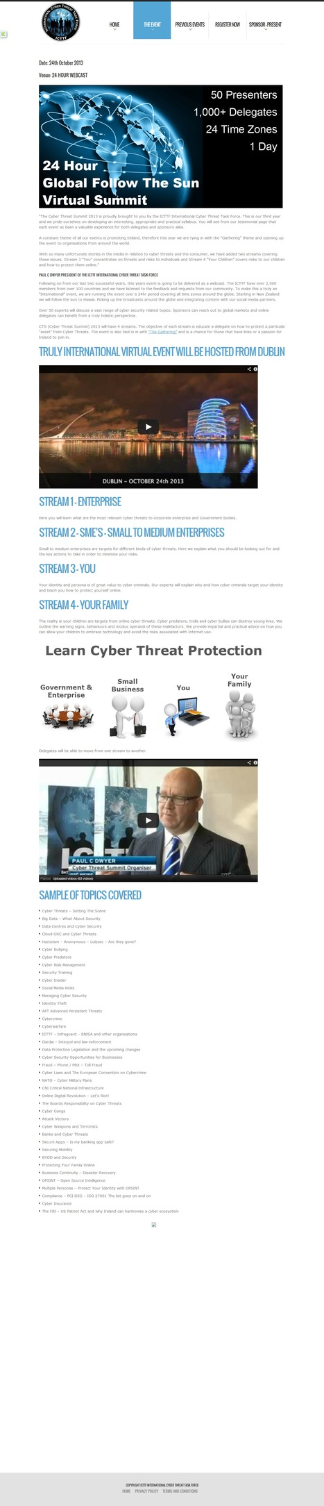 The Event – Cyber Threat Summit 2013 | CYBER THREAT SUMMIT | Cyber Defence | Scoop.it