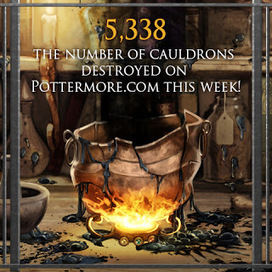 Pottermore Insider: This week 5,338 cauldrons were destroyed on Pottermore.com... | Pottermore | Scoop.it