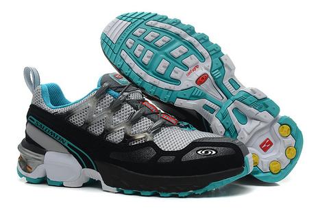Salomon GCS Trail Running Shoes Grey Black Blue for Sale Online | Nike Air Jordans | Scoop.it