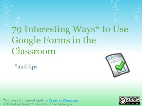 79 Interesting Ways to Use Google Forms in the Classroom | Cultura de massa no Século XXI (Mass Culture in the XXI Century) | Scoop.it