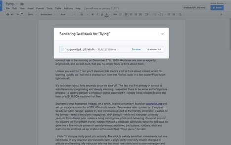 Get Draftback to Play Back Google Docs ^ Netted by the Webbys | Feed the Writer | Scoop.it