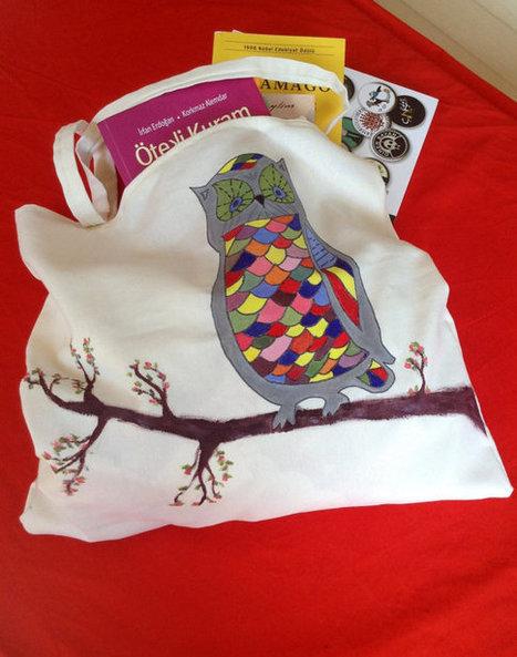 Cotton Canvas Handmade Handpainted Tote Bag - Elephant | wedding | Scoop.it