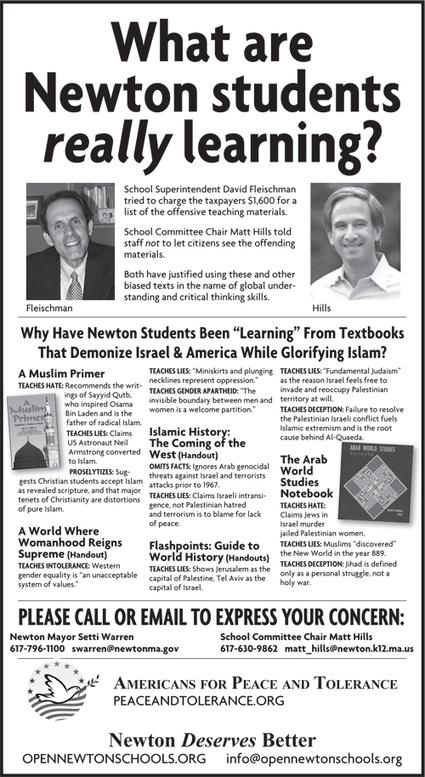 Boston Area Schools Called Out Over Anti-Israel Materials Newton Schools Jewish – Algemeiner.com   Restore America   Scoop.it