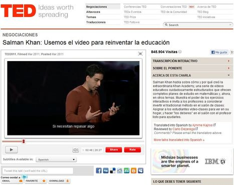Salman Khan: Usemos el video para reinventar la educación | Video on TED.com | Noticias, Recursos y Contenidos sobre Aprendizaje | Scoop.it