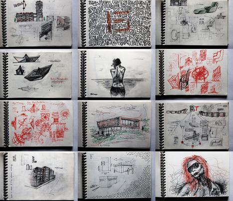 Sketchbook Secrets: 50 Beautiful Sketchbook Scans | Artifact Journals: Documenting the Artistic Process | Scoop.it