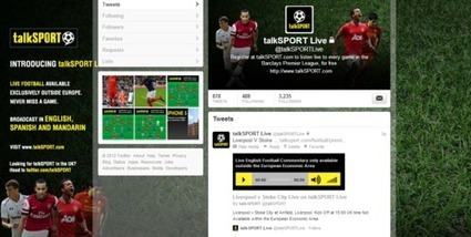 talkSPORT Live To Broadcast Via Twitter | Radio 2.0 (En & Fr) | Scoop.it