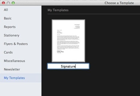 How-to: Use Preview to put signatures on PDF's, Pages Documents ... | NGOs in Human Rights, Peace and Development | Scoop.it