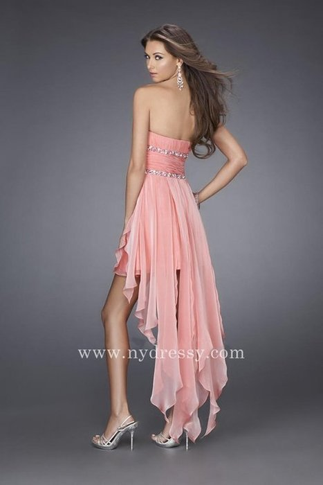 Gorgeous strapless high low coral homecoming dress by La Femme 15087 [La Femme 15087] - $155.00 : Prom Dresses | Evening Dresses | Dresses From nydressy.com | Dresses for girls | Scoop.it