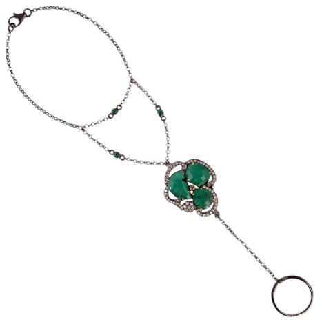 Pave Diamond Emerald Slave Bracelet | Gemstone Jewelry | GemcoDesigns | Pave Diamond Bracelets | Diamond Jewelry | GemcoDesigns | Scoop.it