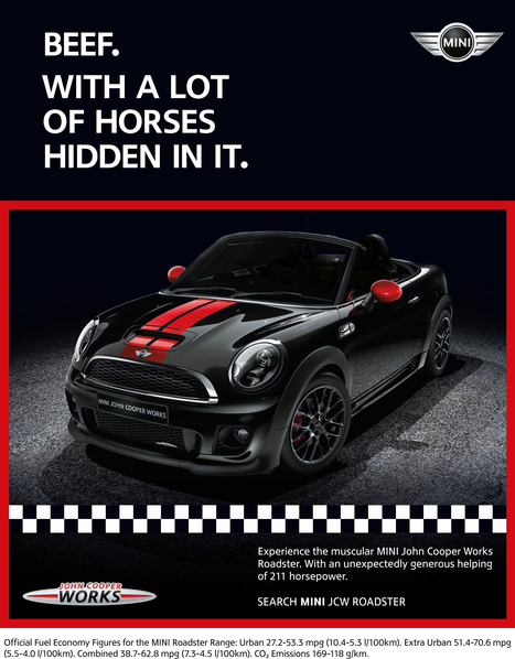Mini launches tongue-in-cheek horsemeat ad   Advertising news   Campaign   Experiential Marketing Updates   Scoop.it