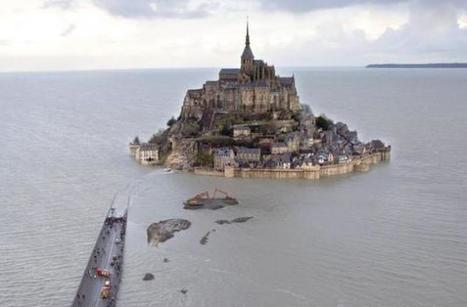 Le Mont-Saint-Michel vu du ciel | Géographie : les dernières nouvelles de la toile. | Scoop.it