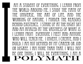 The Last Days Of The Polymath? | Polymath Online | Scoop.it