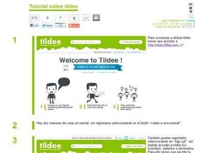 SOFTWARE EDUCATIVO y herramientas informáticas aplicables a la educación.: Crear tutoriales con Tildee | HERRAMIENTAS 2.0 Y EDUCACIÓN | Scoop.it