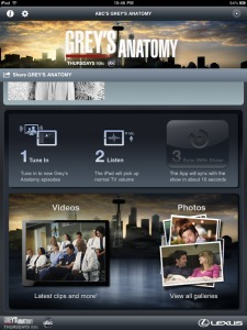 Grey's Anatomy Sync iPad App Review and Analysis | Video Breakthroughs | Scoop.it