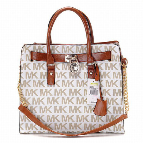 Michael Michael Kors Hamilton Large Tote Beige | my love list | Scoop.it