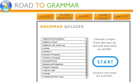 Road To Grammar --- Grammar practice and vocabulary | English Digitools | Scoop.it