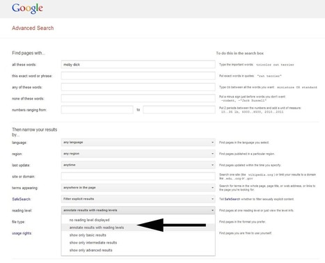 How To Google Search By Reading Level | Teacher Tools and Tips | Scoop.it