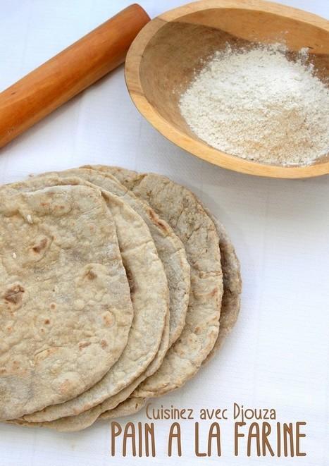 Pita a la farine complète a la poele   La cuisine de Djouza recettes faciles et rapides   Boulange   Scoop.it