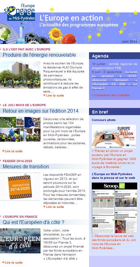 Au sommaire de l'Europe en action en juin | Europe en Midi-Pyrénées | Scoop.it