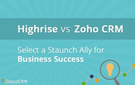 Highrise vs Zoho: Select A Staunch Ally for Business Success | CRM Reviews | Scoop.it