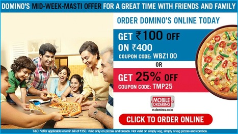 Domino's India Coupons, Vouchers, Deals or Offers 2014 | Latest Coupon Codes and Deals in India for Online Shopping Stores | Scoop.it