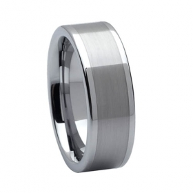 Wholesale:15%Off - 9mm Tungsten Brushed & Polished Shiny Ring | I Love Tungsten Wedding Bands | Scoop.it