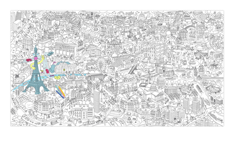 Coloriage géant Paris | Shop & Fun | Scoop.it