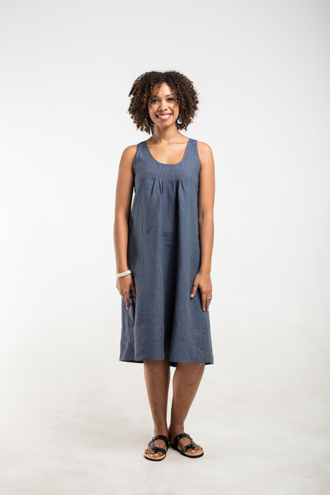 denim blue linen sun dress | 2014 Collection | Scoop.it