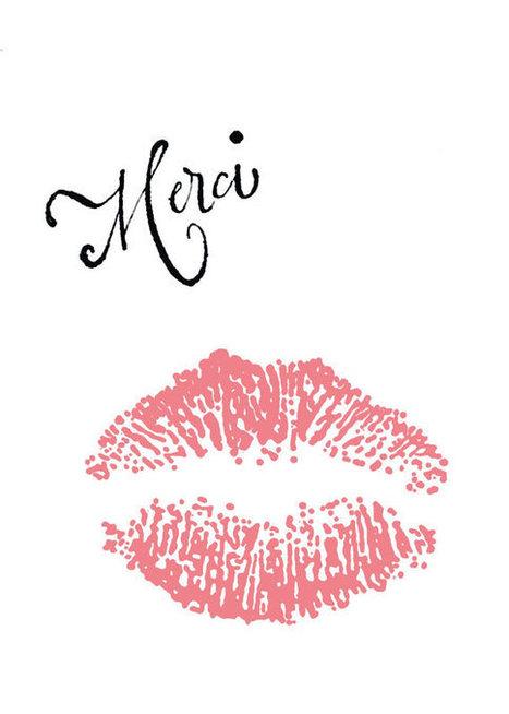 Digital Art Print 5x7 :  Merci Kiss | My Art World | Scoop.it