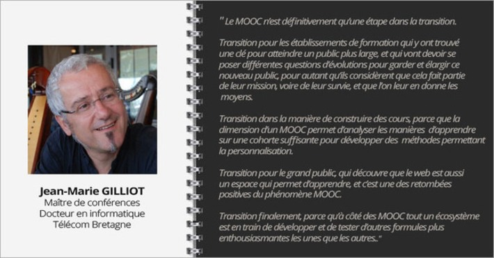 "Interview Jean Marie Gilliot ""Le MOOC n'est définitivement qu'une étape dans la transition"" 