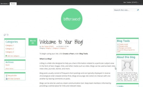 Bittersweet: a free SharePoint Master Page for blogs | All About SharePoint | Scoop.it