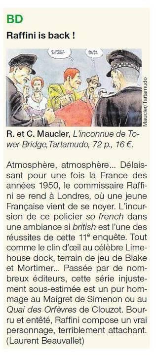 L'inconnue de Tower Bridge dans Ouest France | Bande dessinée et illustrations | Scoop.it