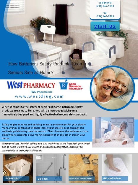 Get Bathroom Safety Products For Seniors At West Pharmacy   Medical Supplies   Scoop.it