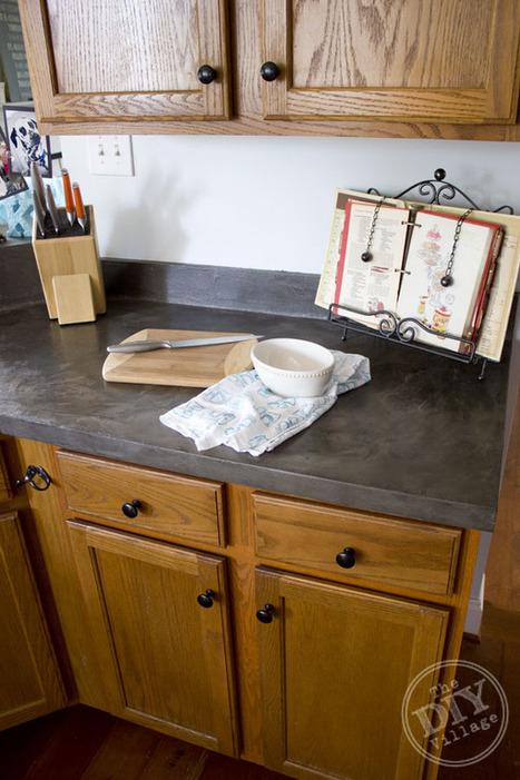 Kitchen Countertop Makeover - the DIY village | HomeCentrL In The Kitchen | Scoop.it