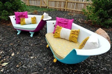One-of-a-kind outdoor furniture | Upcycled Garden Style | Scoop.it