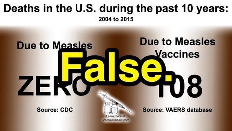 ZERO U.S. Measles Deaths in 10 Years, Over 100 Measles Vaccine Deaths?   Snopes.com   02/04/15   FDW's Daily Scoops   Scoop.it