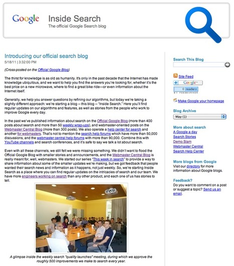 Google crée un blog spécialisé sur la recherche d'information - Actualité Abondance | Veille_Curation_tendances | Scoop.it