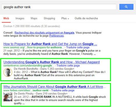 Google Author Rank : nouvelle ère de création de contenu | Communication Digital x Media | Scoop.it