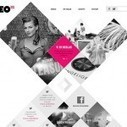 35 Web designs layouts with unusual shapes and geometry | Web Innovations | Scoop.it