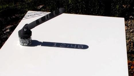 A 3D Printed Sundial Displays Time Like a Digital Clock | Fantastic Maps | Scoop.it