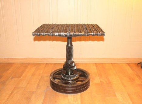 CAR PART FURNITURE made from Car Parts Gears, Gear Chain and Pulley Wheel | Interior Life | Scoop.it