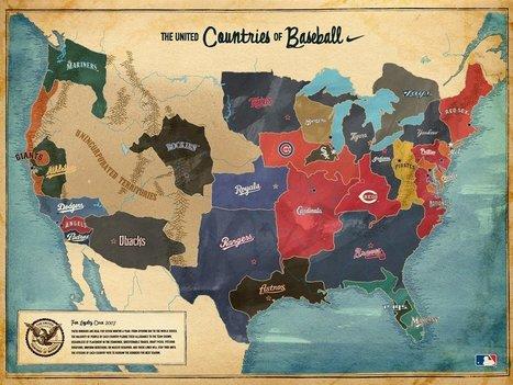 Map of Major League Baseball fans | AP Human Geography Petrides | Scoop.it