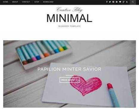 Minimal - Clean & Responsive Blogger Template - My Blogging Lab | Blogger themes | Scoop.it