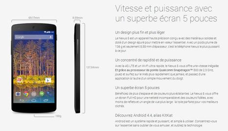 Le tout dernier Nexus 5 de chez Google enfin en vente ! | toute l'info sur Google | Scoop.it