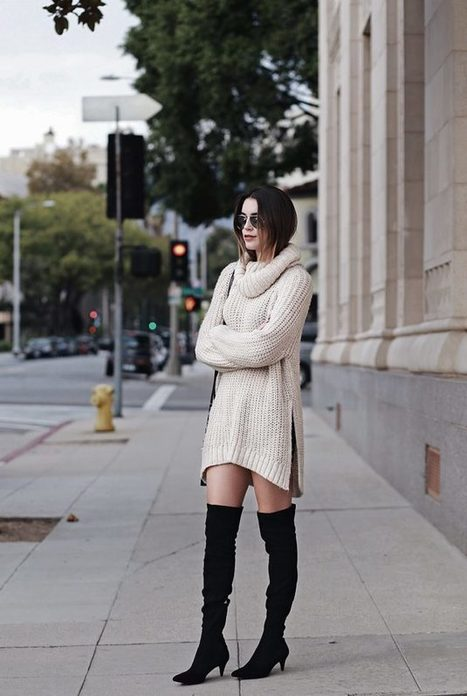 Turtleneck Dress Outfit Ideas For Upcoming Winter » Celebrity Fashion, Outfit Trends And Beauty News | Fashion Style And Beauty Tips | Scoop.it