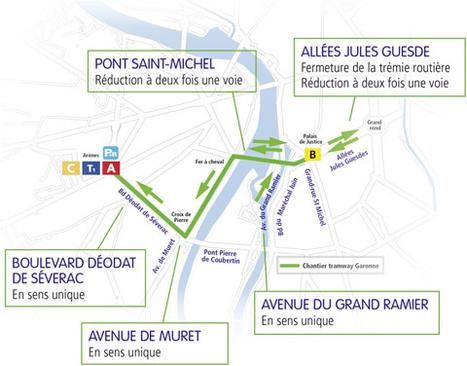 Toulouse : Début du chantier du tramway Garonne, lundi 13 février   Toulouse La Ville Rose   Scoop.it