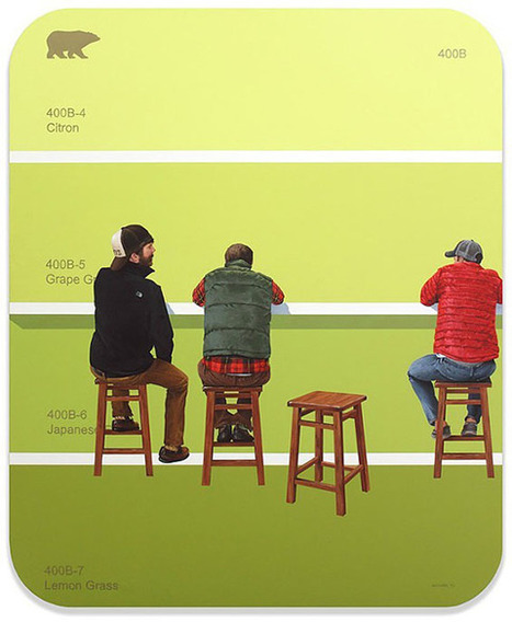 Compelling images of illustrated scenes paired with matching paint swatches | D_sign | Scoop.it